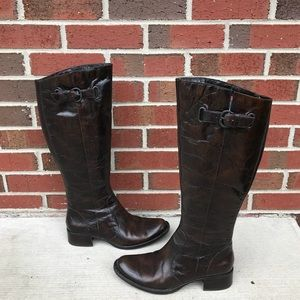 Crown Roxie Born Brown Leather Boots 8.5/40 M/W